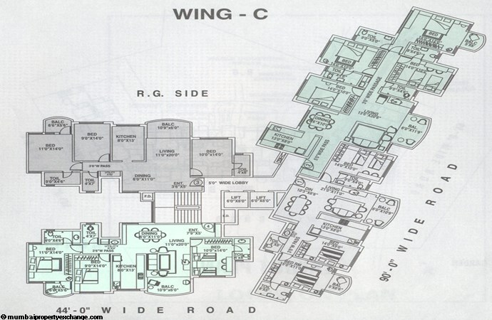 Silver Birch floor plan wing C