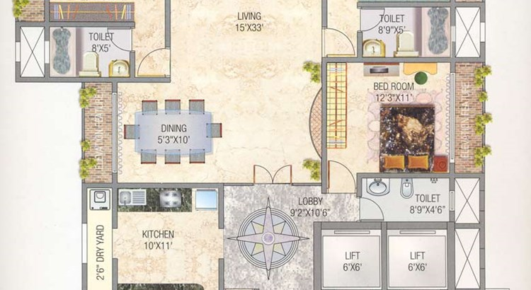 Navsonarbala Annexe floor plan 2nd to 9th