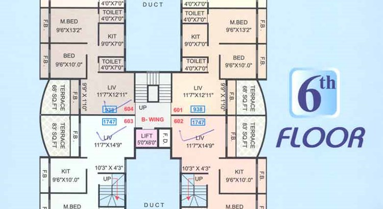 Shubharambh 6th Floor Plan