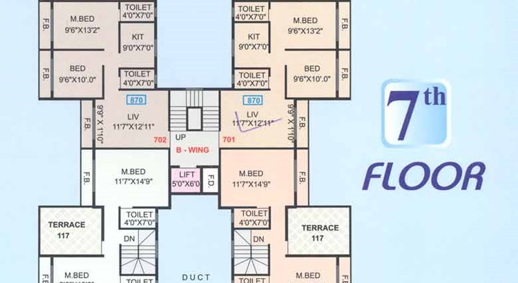 Shubharambh 7th Floor Plan