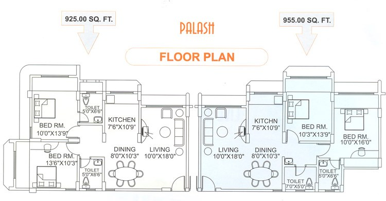 Palash  floor plan