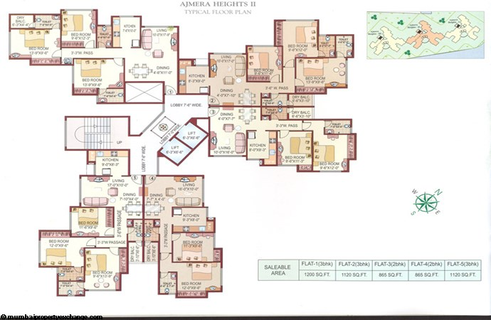 Ajmera Heights floor plan