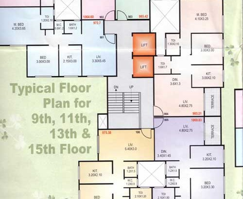 Tulsi Tower 9-11-13-15 Floor Plan