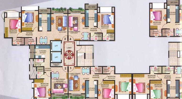 Joy Homes Floor Plan Wing C