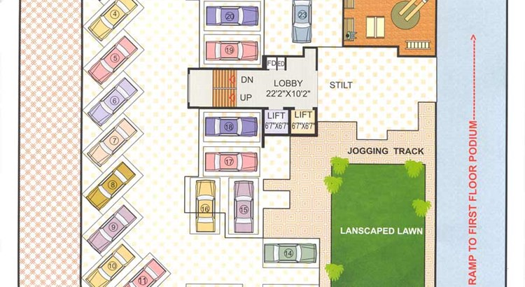 Bhoomi Ratna First Floor Plan