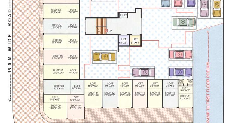 Bhoomi Ratna Ground Floor Plan