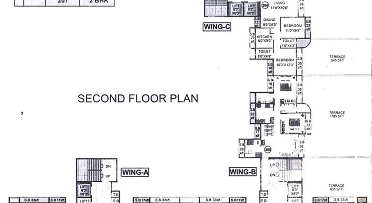 Bhoomi Heights Second Floor Plan