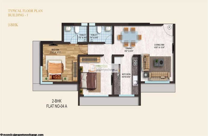 Crystal Armus 2BHK Plan