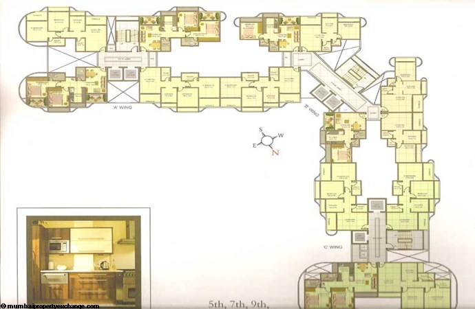 Tharwani Residency Floor Plan