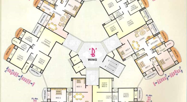 Twins B wing Floor Plan