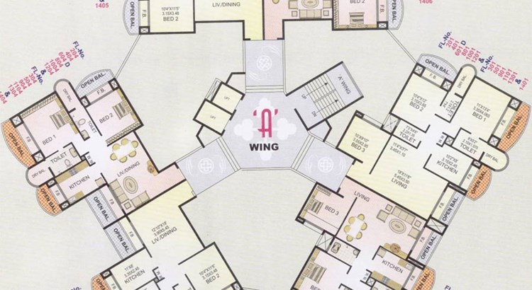 Twins A wing Floor Plan