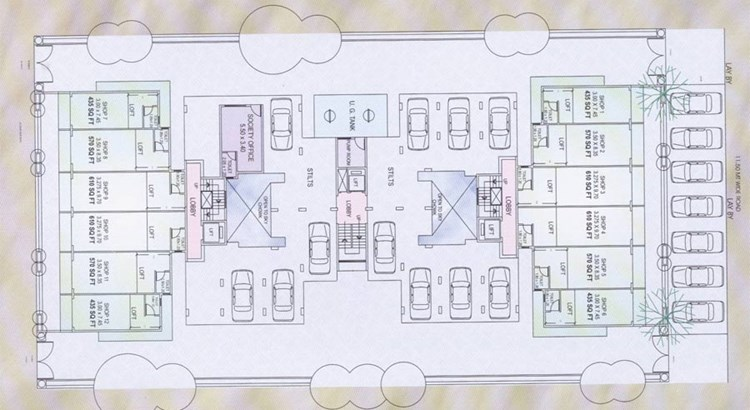 Amrutdhara Car Parking Plan