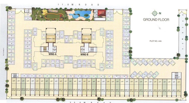 Giriraj Horizon Ground floor Plan