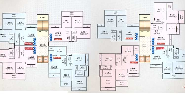 Shree Balaji Krupa 2,4,6,8 floor plan