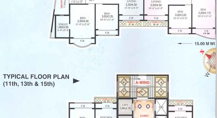 Palm Paradise 10th - 14th Floor Plan