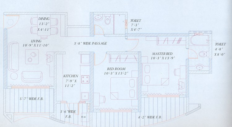 RNA Royale Park  Floor Plan