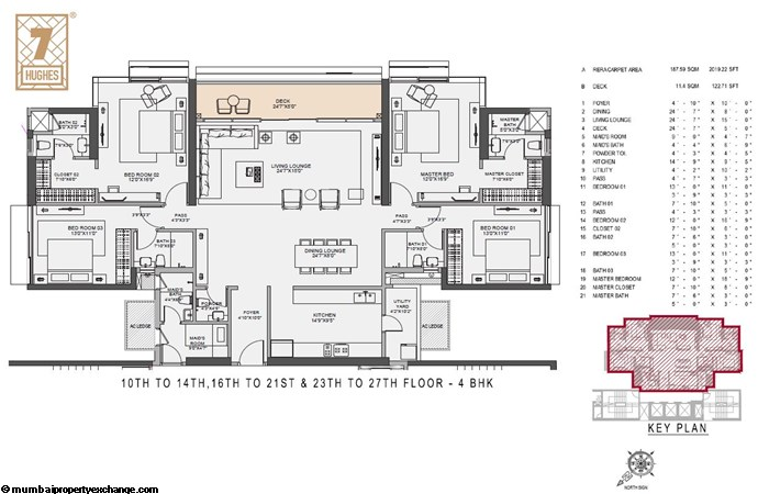 7 Hughes 7 Hughes 10th to14th-16th to 21st-23rd to 27th flr 4BHK