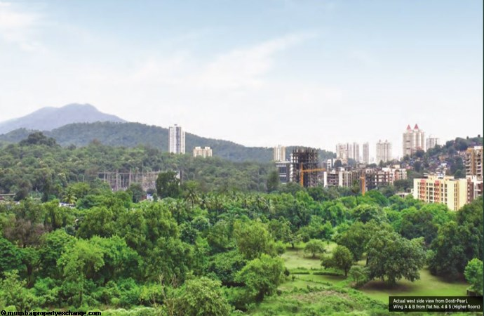 Dosti Desire Pearl View from Dosti Pearl WIng A - B