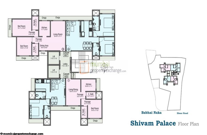 Shivam Palace 1 BHK Floor plan