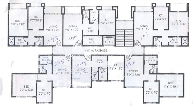 Kailash Park C Wing Floor Plan