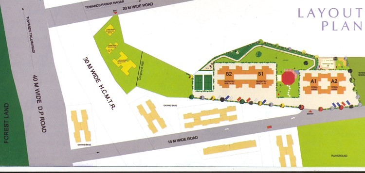 Dhaval Hills layout