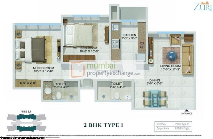 Sheth Zuri 2BHK Plan