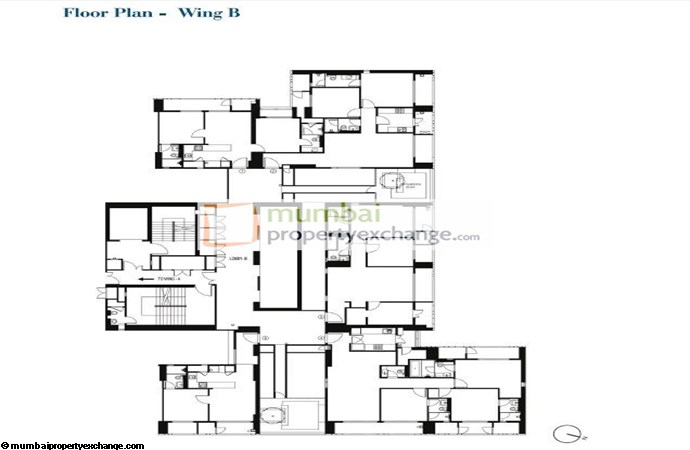 Lodha Codename Floor Plan B wing