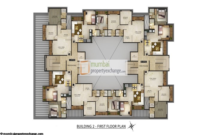 Radhey Galaxy Building 2 Floor Plan