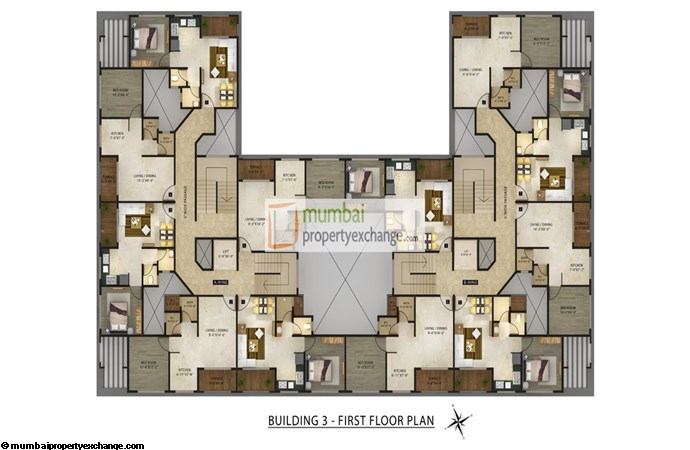 Radhey Galaxy Building 3 Floor Plan