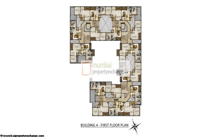 Radhey Galaxy Building 4 Floor Plan