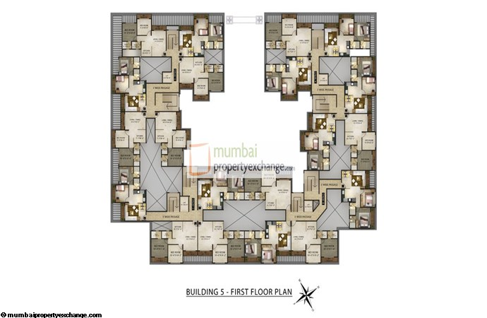 Radhey Galaxy Building 5 Floor Plan