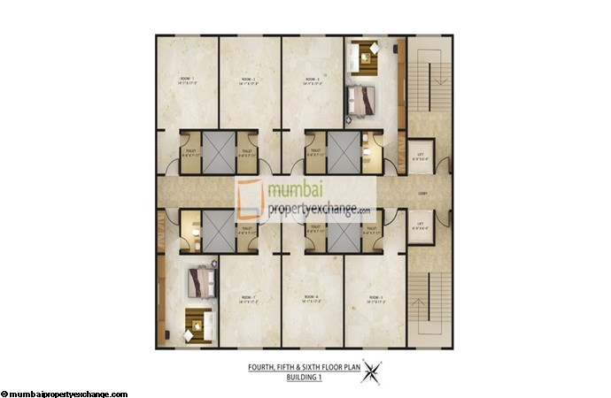 Radhey Galaxy Floor plan