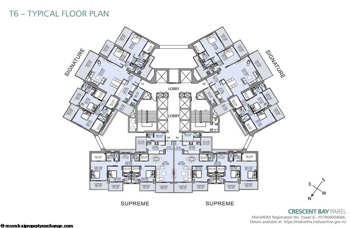 Crescent Bay Tower 6 Crescent Bay T6 Typical Floor Plan