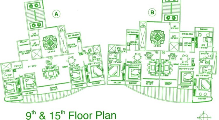 Green Heritage 9th and 15th Floor Plan