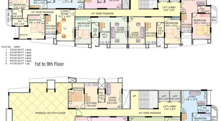 Mannat Tower Floor Plan I