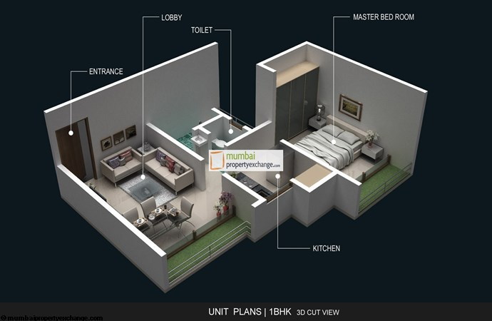 And Agasan 1BHK Plan