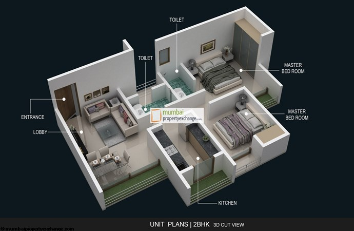 And Agasan 2BHK Plan
