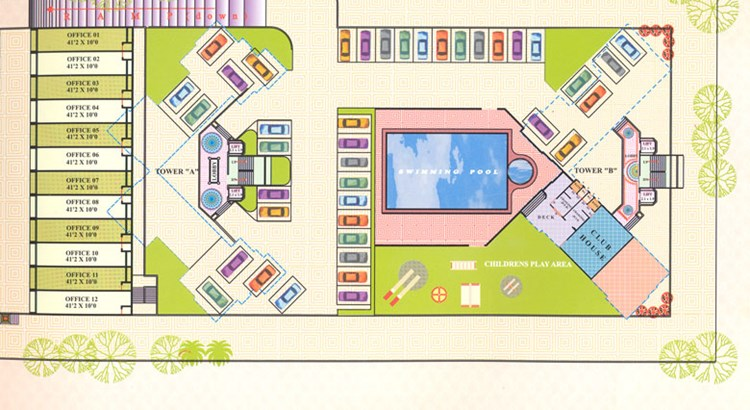 Ashoka Residency Layout Podium Level