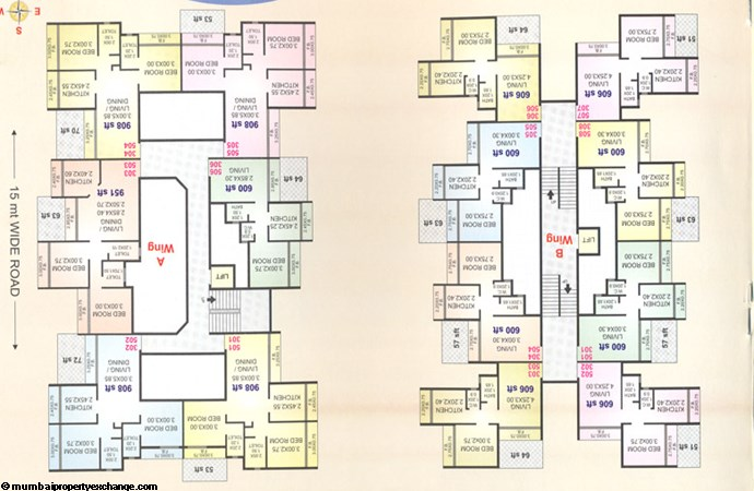 Maitri Icon 3rd and 5th floor plan