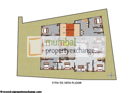 Atlas Royal 17th - 19th Floor Plan