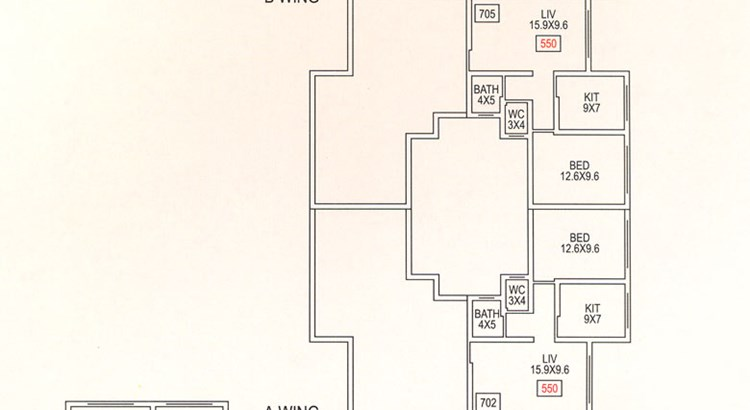 Gokul Kshitij 7th floor plan