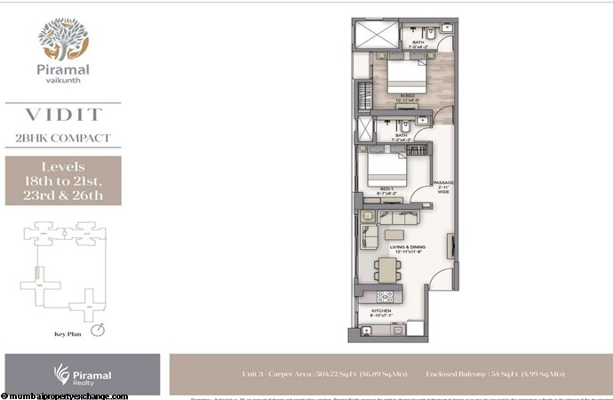 Piramal Vaikunth Vidit Piramal Vaikunth Vidit 2BHK Compact higher Unit-03