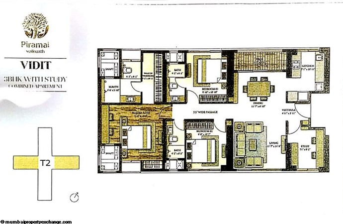 Piramal Vaikunth Vidit Piramal Vaikunth Vidit 3BHK with study