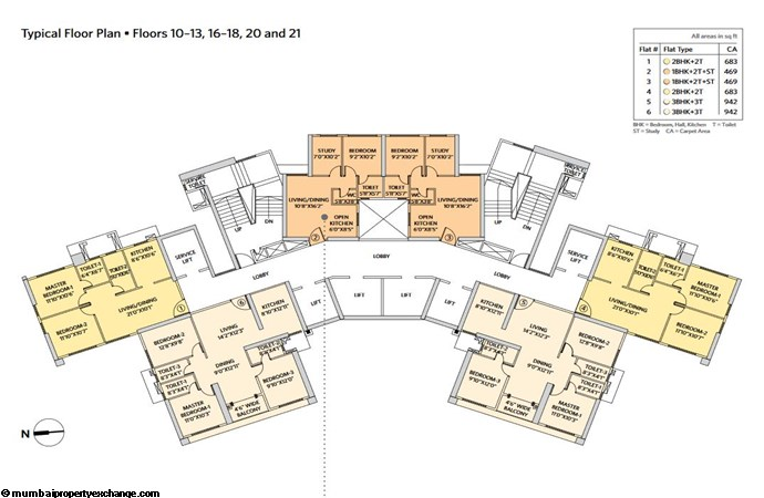 Siddha Seabrook Seabrook Typical  Floor Plan - 2