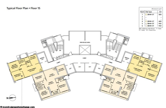Siddha Seabrook Seabrook Typical  Floor Plan - 4