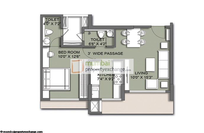 Primo 1 BHK Floor Plan
