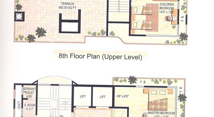 Lilou Villa Penth house Floor Plan I