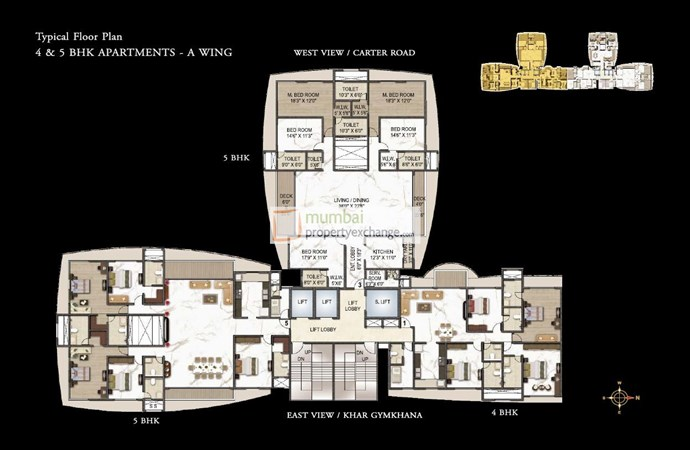 Joy Legend 4&5BHK Floor Plan
