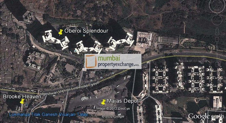 Oberoi Splendor Google Earth