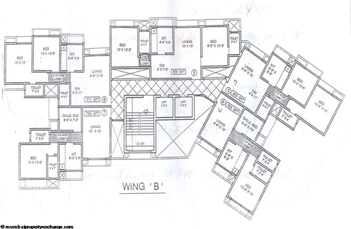 Trikuta Tower Wing B floor plan